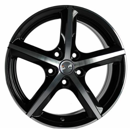 Cerchio in lega AVUS Racing AF8 6,5x16 5x108 +40 73,1 BLACK POLISHED